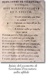 Inizio del poemetto di G. Fracastoro sulla sifilide