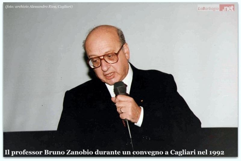 Il prof. Bruno Zanobio