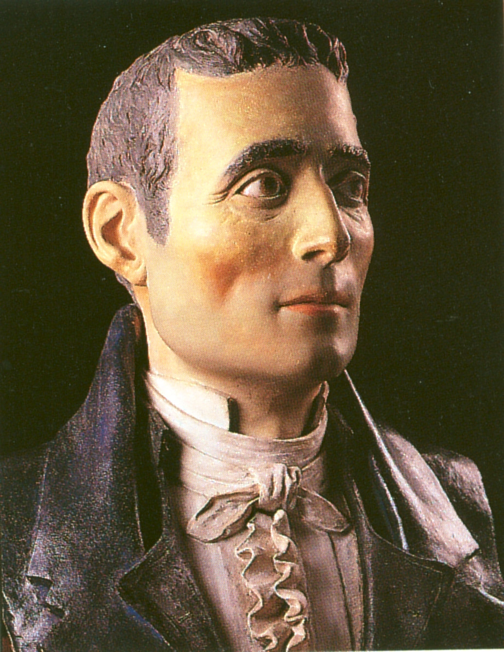 Potrait of Clemente Susini. Terracotta by  Egisto Tortori